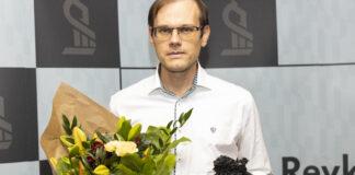 Anton á lokahófi Evrópumótsins.